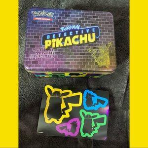 Detective Pikachu Lunchbox & Sticker Bundle
